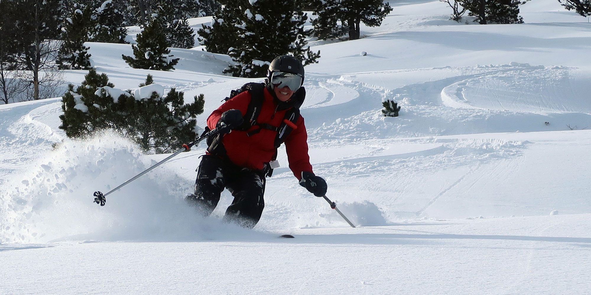The thrill of off-piste skiing