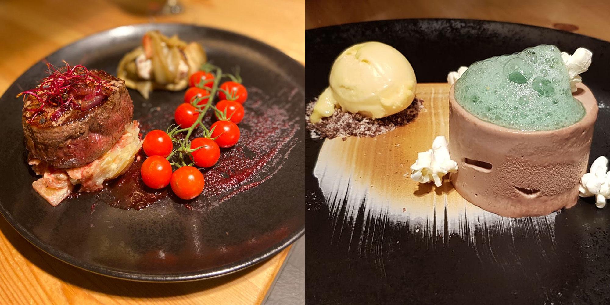 Fine dining at Eira Ski Lodge