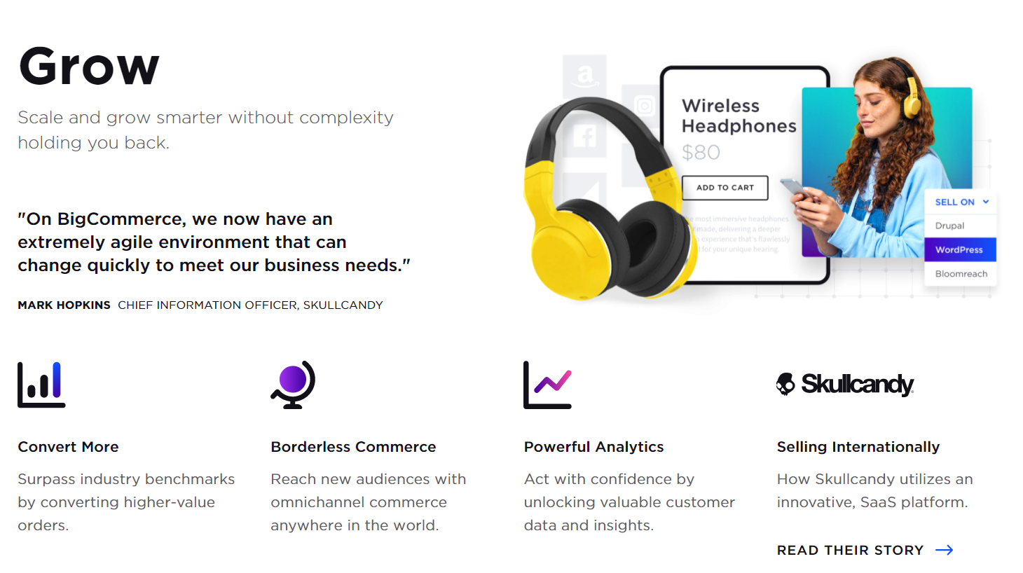 screenshot of BigCommerce platform