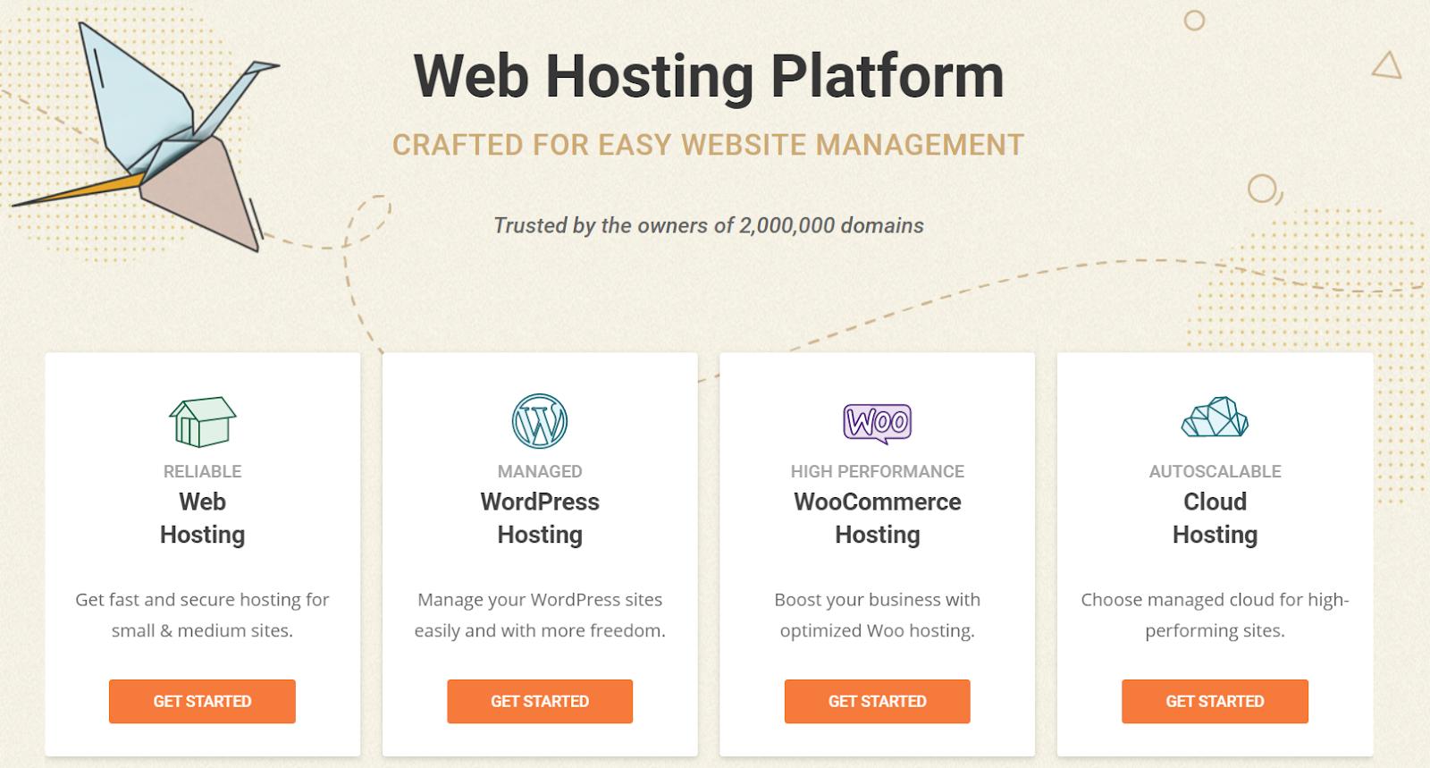 screenshot of siteground platform