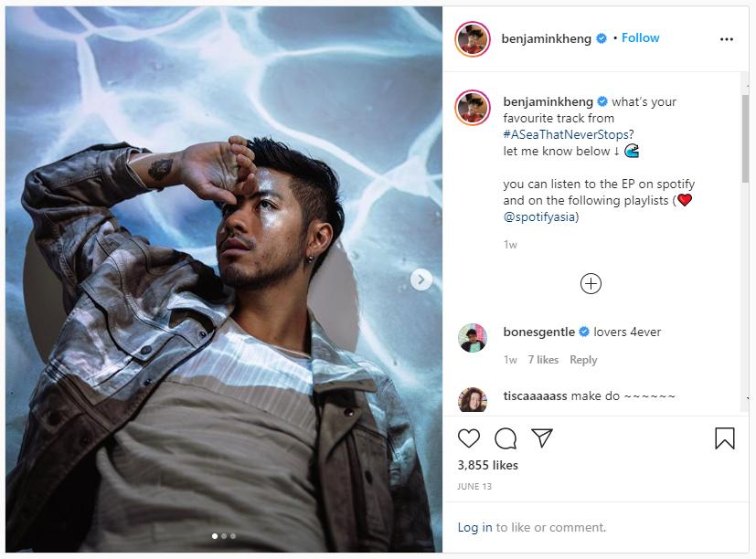 screenshot of one of benjamin kheng's instagram posts