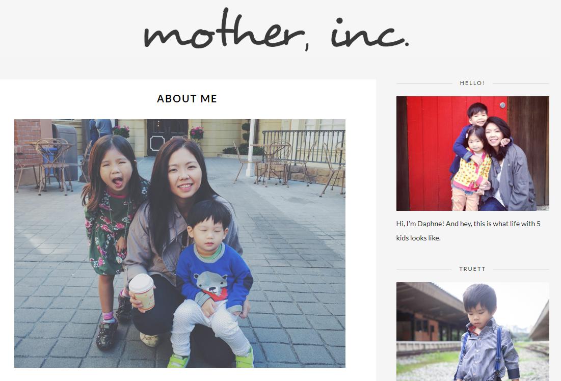 screenshot from mother, inc website