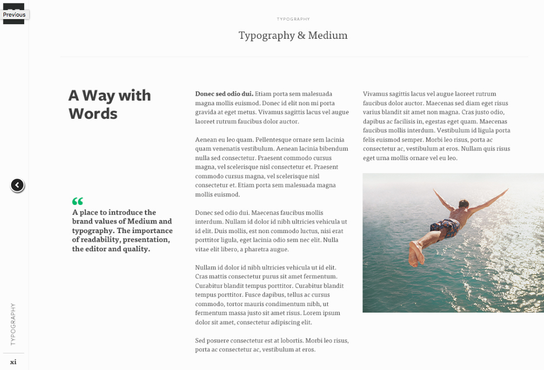Typography styles from Medium