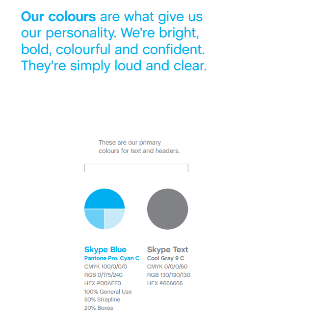 Skype colors from their brand guide