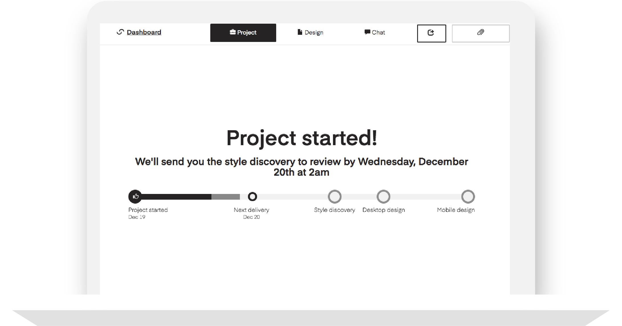 Where to see your project timelines