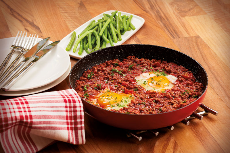 Italian Eggs in Spicy Beef