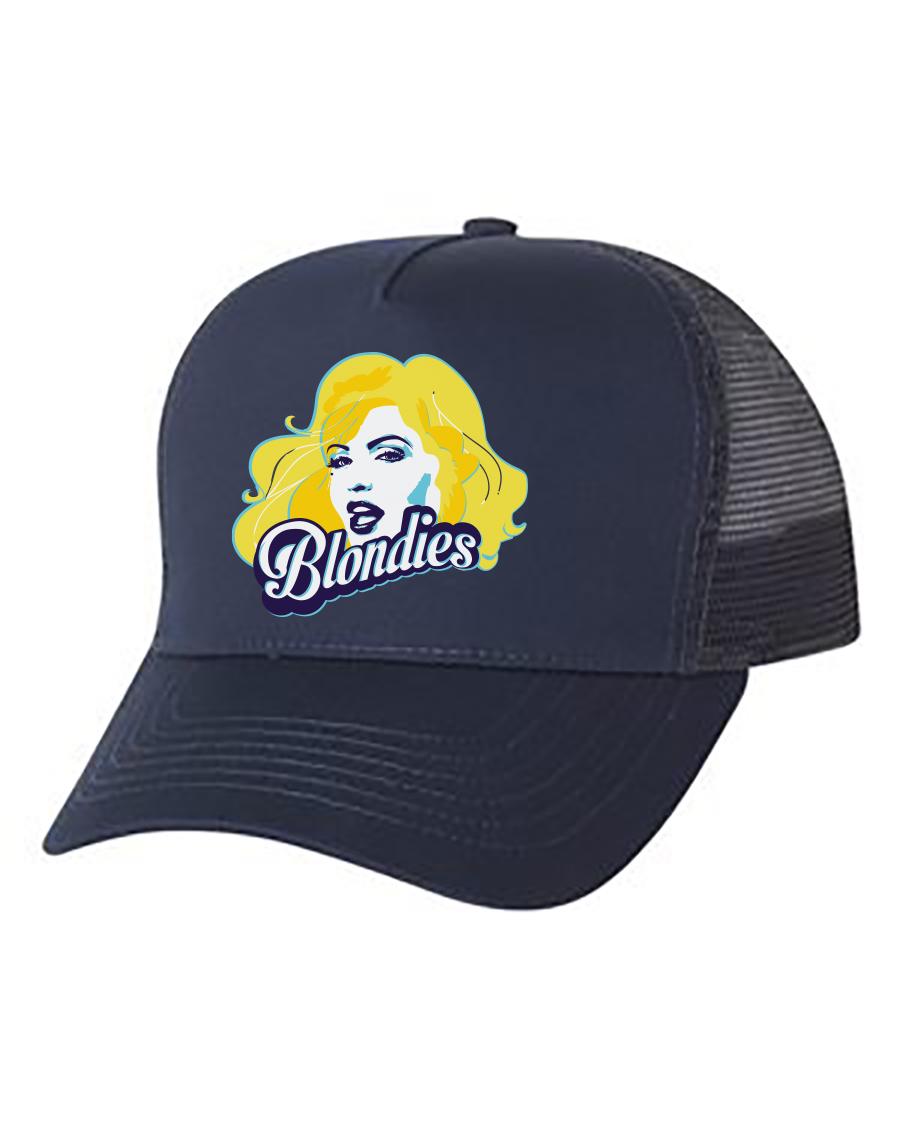Navy Trucker Hat Full Logo
