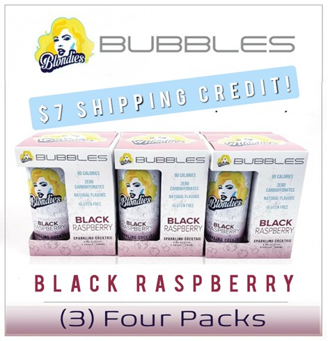 Blondies Bubbles Black Raspberry 12 Can Case