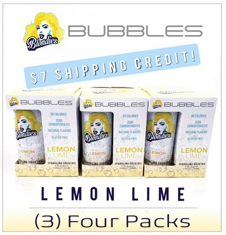 Blondies Bubbles Lemon Lime 12 can case