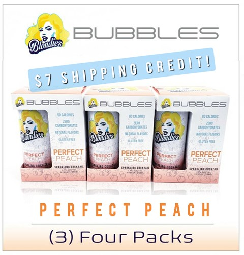 Blondies Bubbles Perfect Peach 12 can case