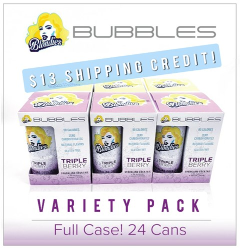 Blondies Bubbles Triple Berry 24 can case