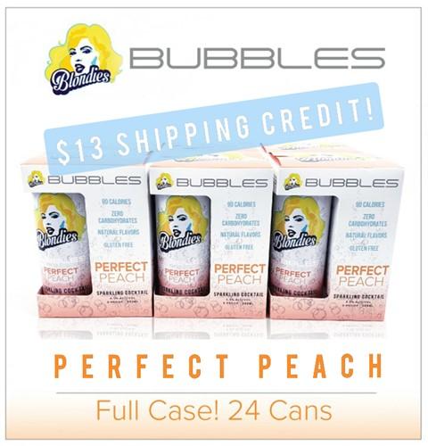 Blondies Bubbles Perfect Peach 24 can case