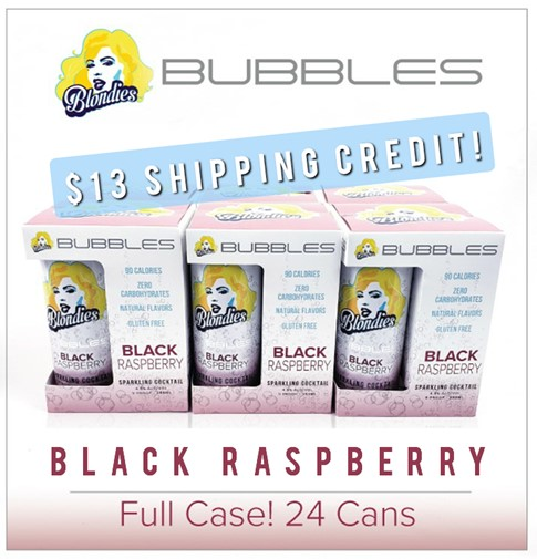 Blondies Bubbles Black Raspberry 24 Can Case