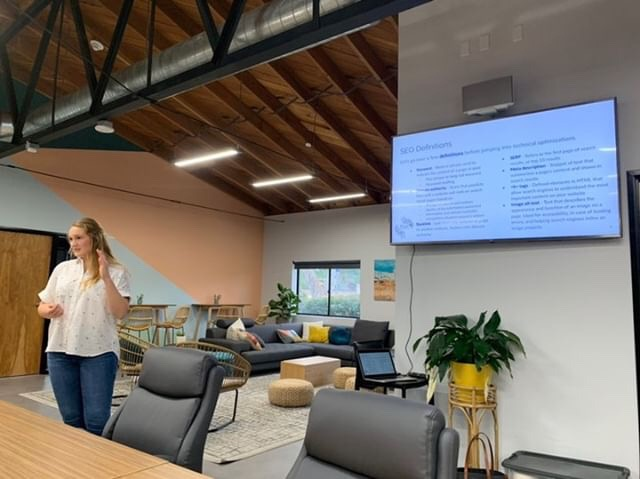 Picture of an SEO workshop hosted by Blüm Agency