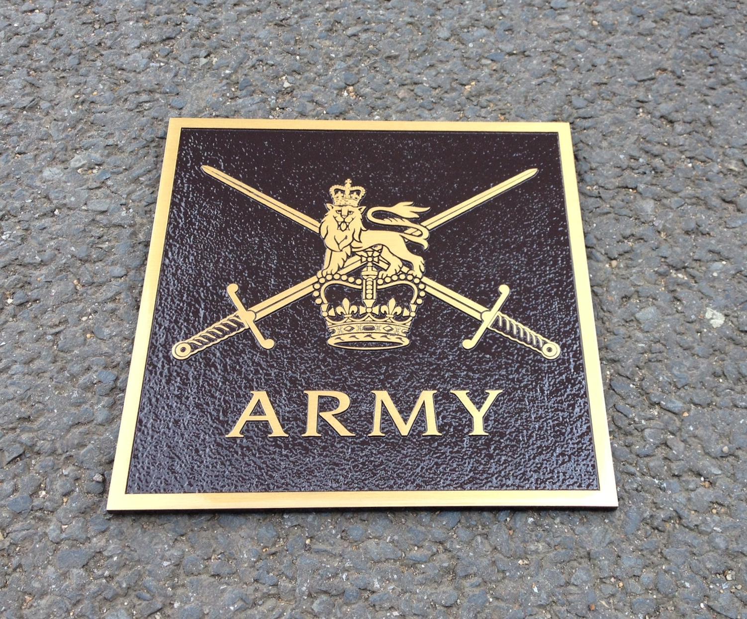 Bronze Plaque 10 X 10 BRONZE BROWN BACKGROUND