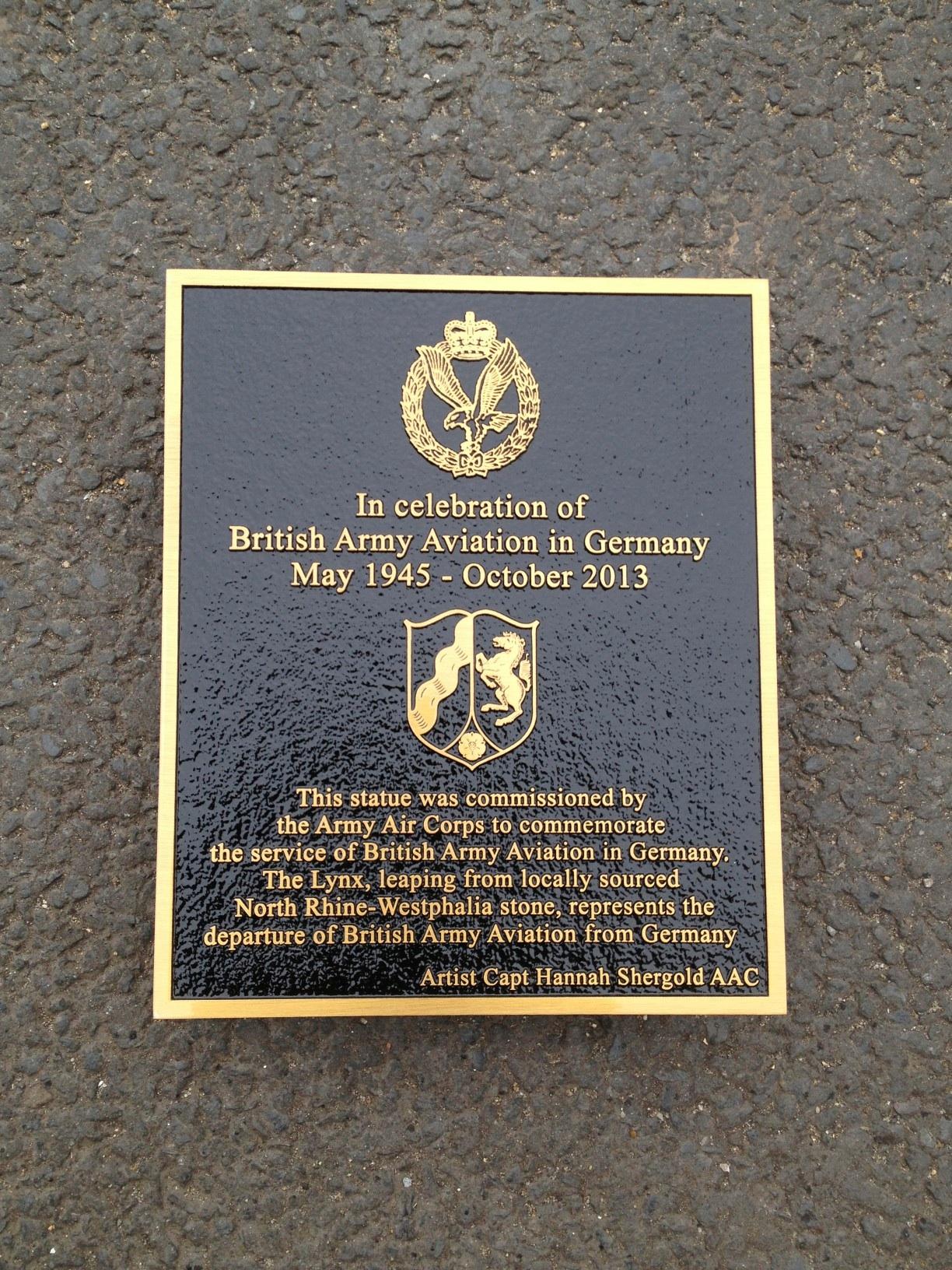Commemorative PLAQUE10 x 12 bronze blackBACKGROUND