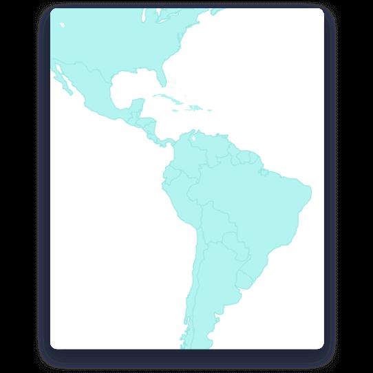 Presentes en todo el continente