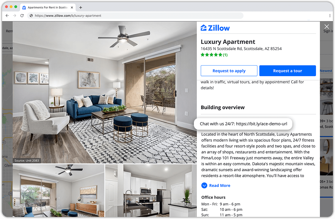 Add Chatbot-Zillow