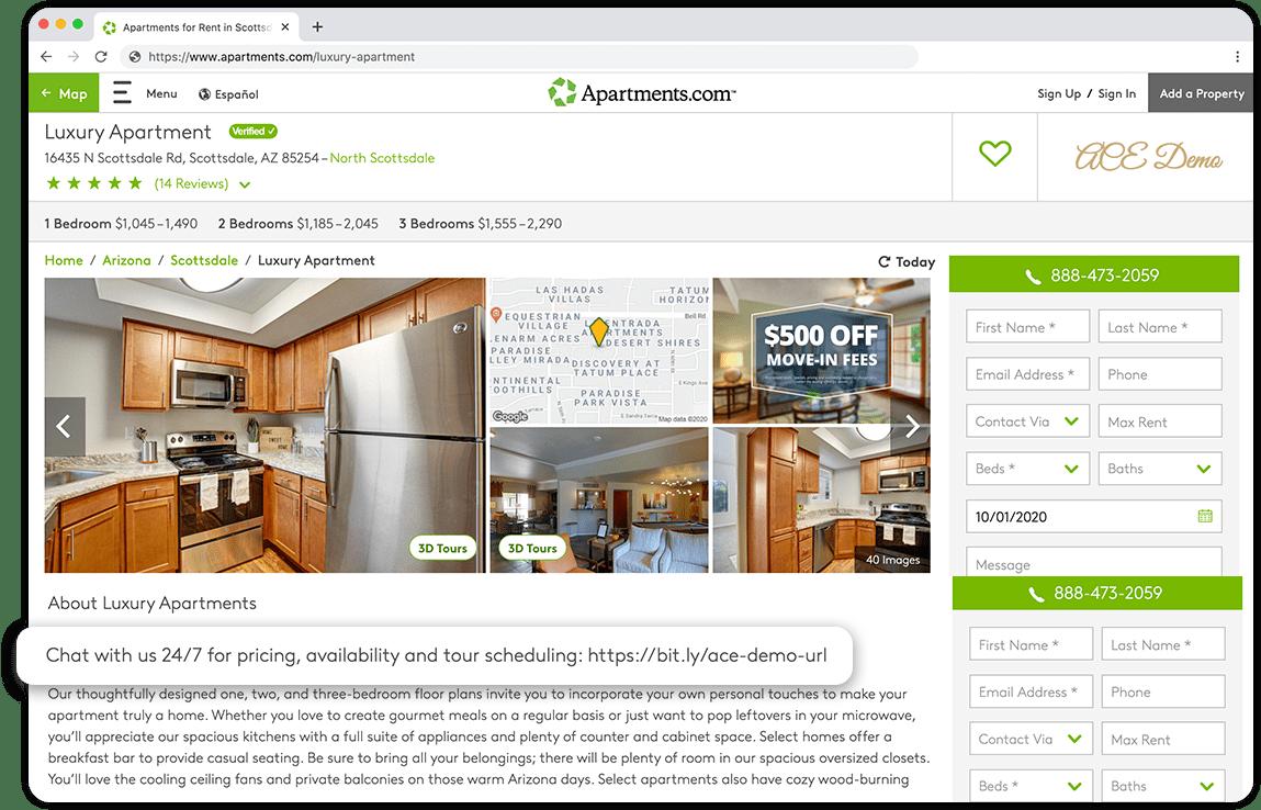 Add Chatbot-CoStar Apartments.com
