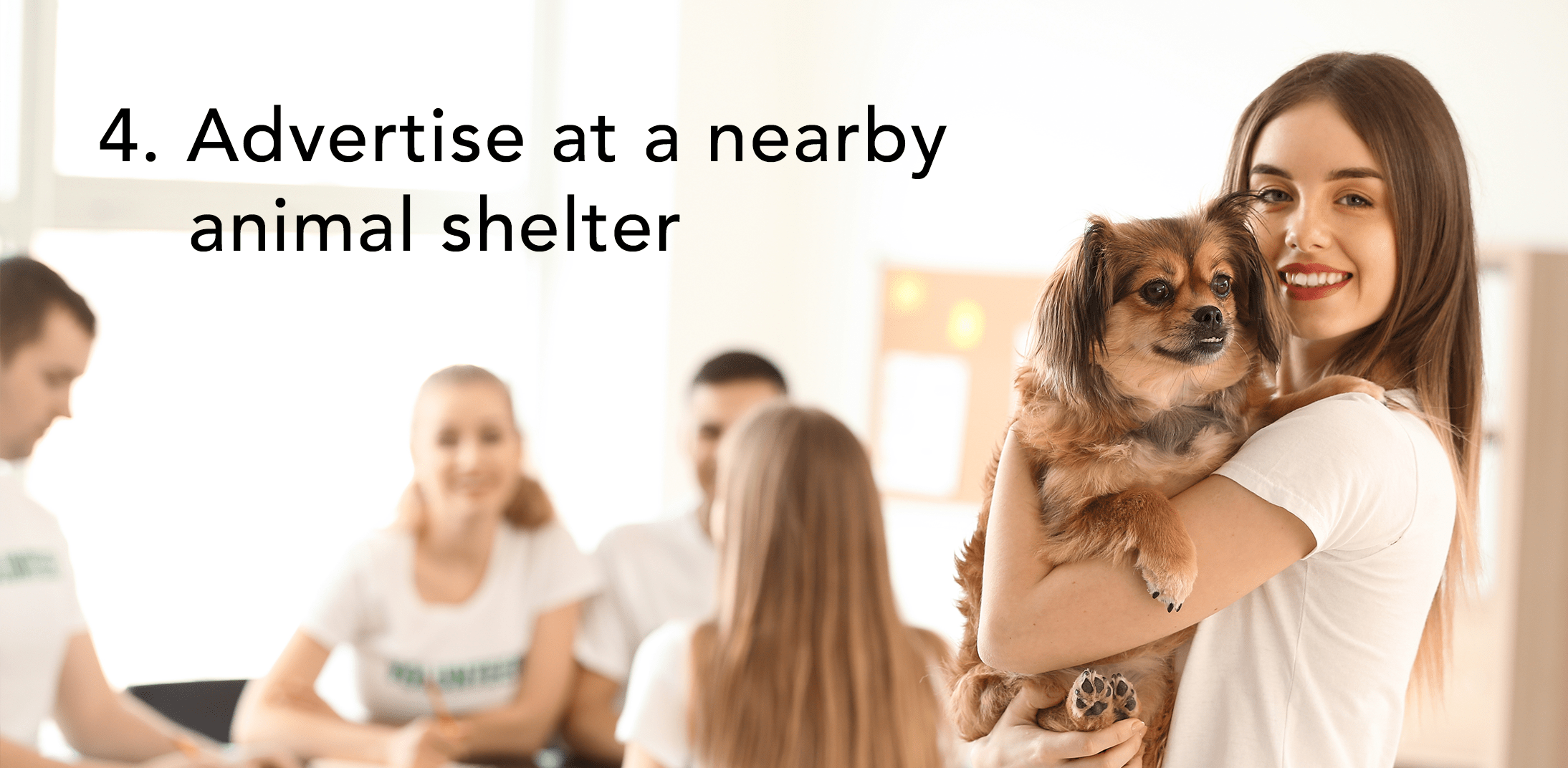 Apartment Marketing Tips - Advertise at a nearby animal shelter