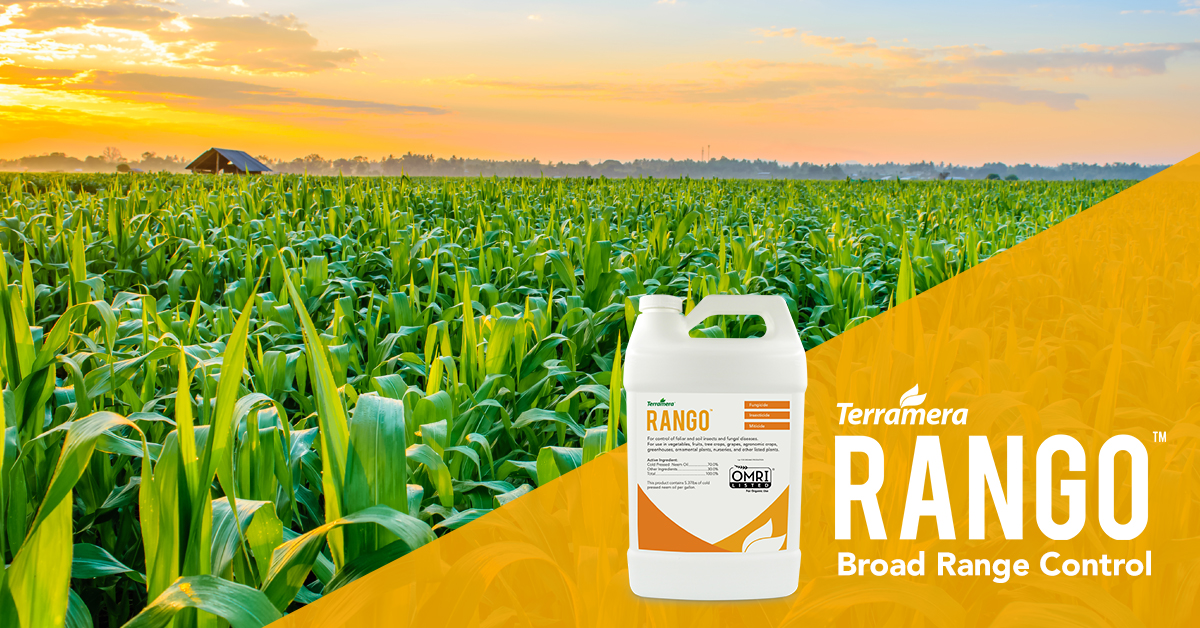 Terramera launches novel, plant-based broad-spectrum agricultural insect, fungal disease, and mite control product RANGO.