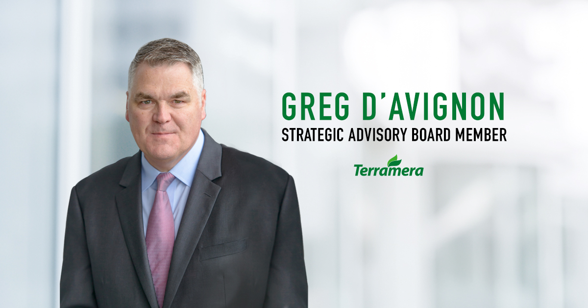 Terramera is pleased to announce Greg D'Avignon as the newest member of their Strategic Advisory Board.