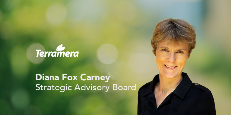 Global climate policy expert, Diana Fox Carney, has joined Terramera's Strategic Advisory Board.
