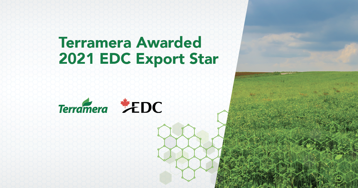 Export Development Canada (EDC) has named Terramera a 2021 Export Star at its fifth annual Cleantech Export Week for developing technologies that are instrumental in the fight against climate change.