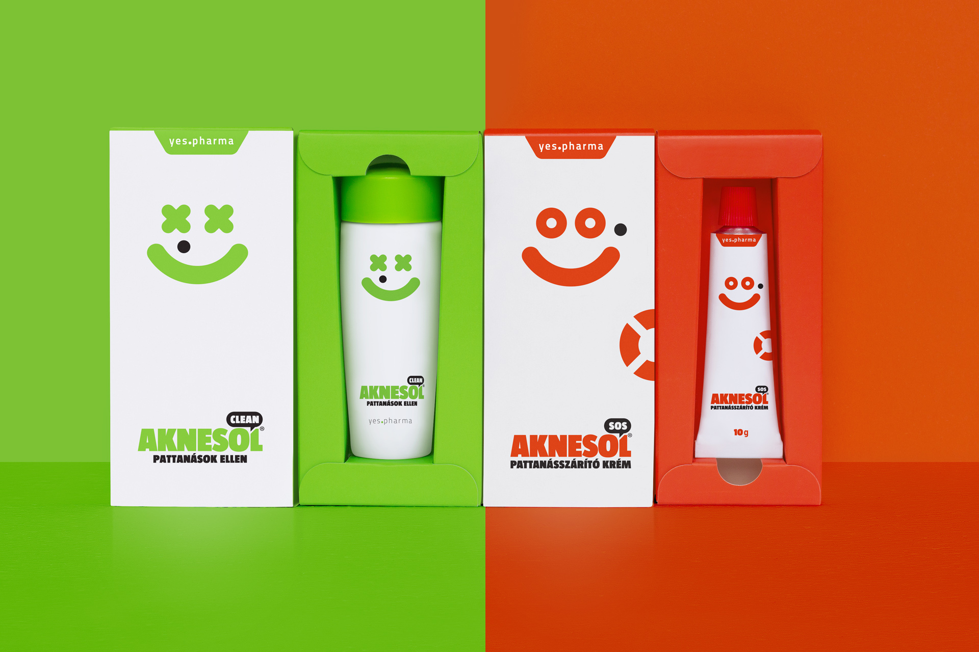 Aknesol Package Design