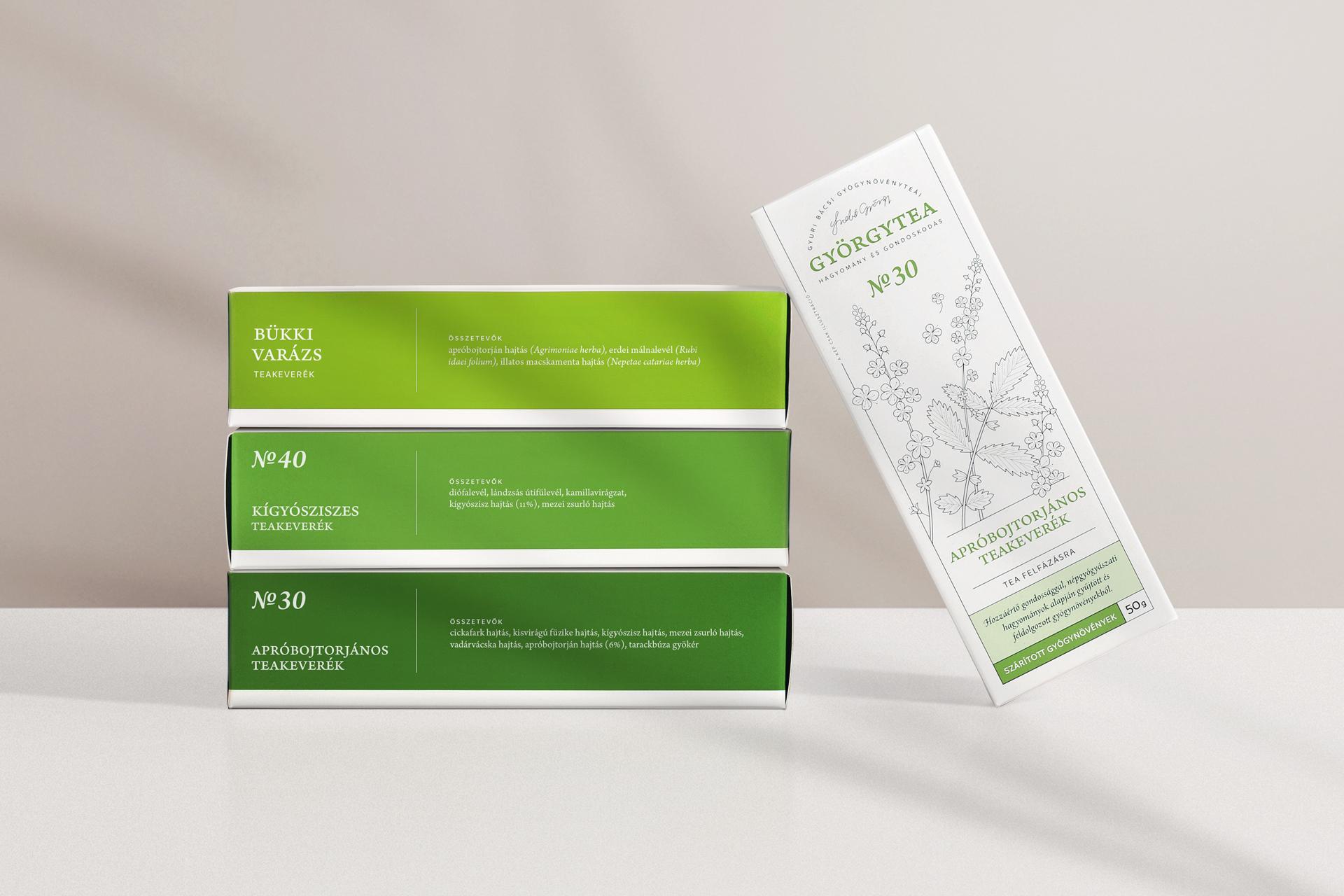 Györgytea Package Design