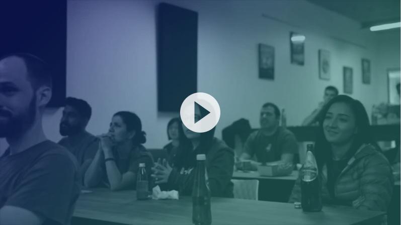 Atlassian training by ServiceRocket: Youtube video overlay.
