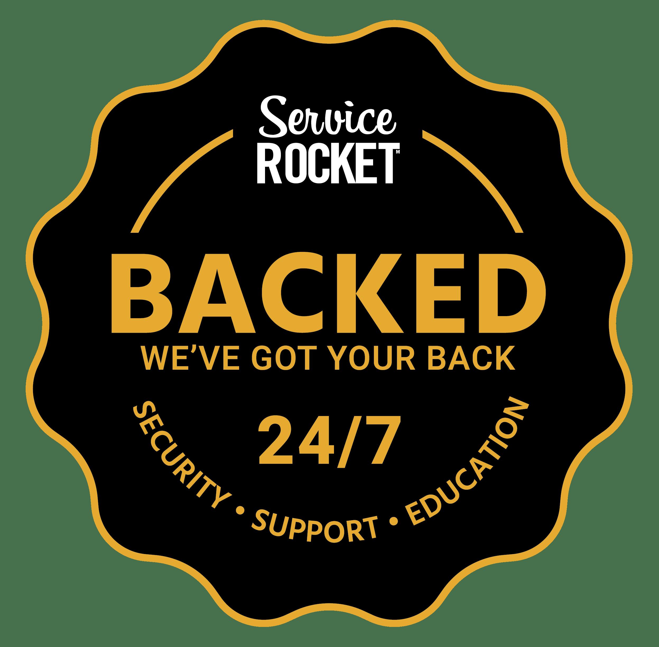 Seal Badge, We've got you Back 24/7