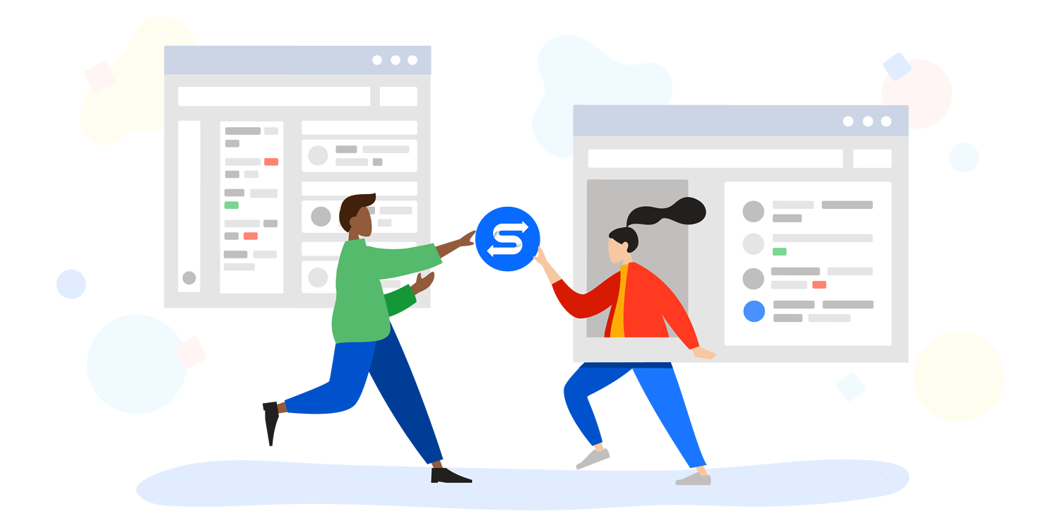 Work team connected with Connector for Salesforce & Jira by ServiceRocket.