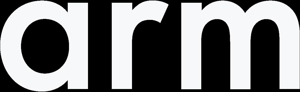 arm logo in white color.