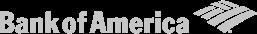 Bank of America logo in color gray