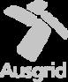 Ausgrid logo in color gray