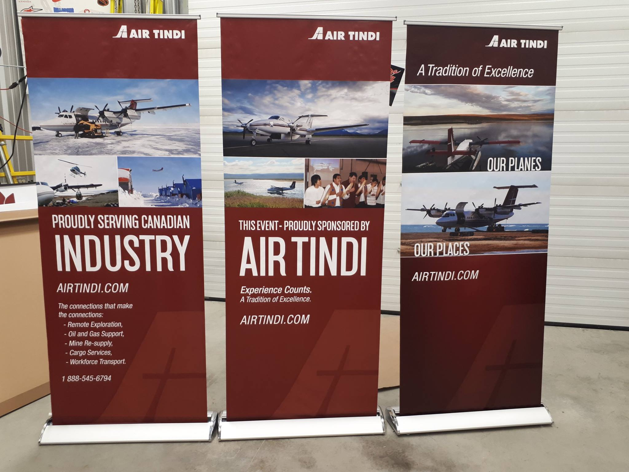 For corporate events or trade shows- we have various styles of banner stands shapes and sizes available to select from.
