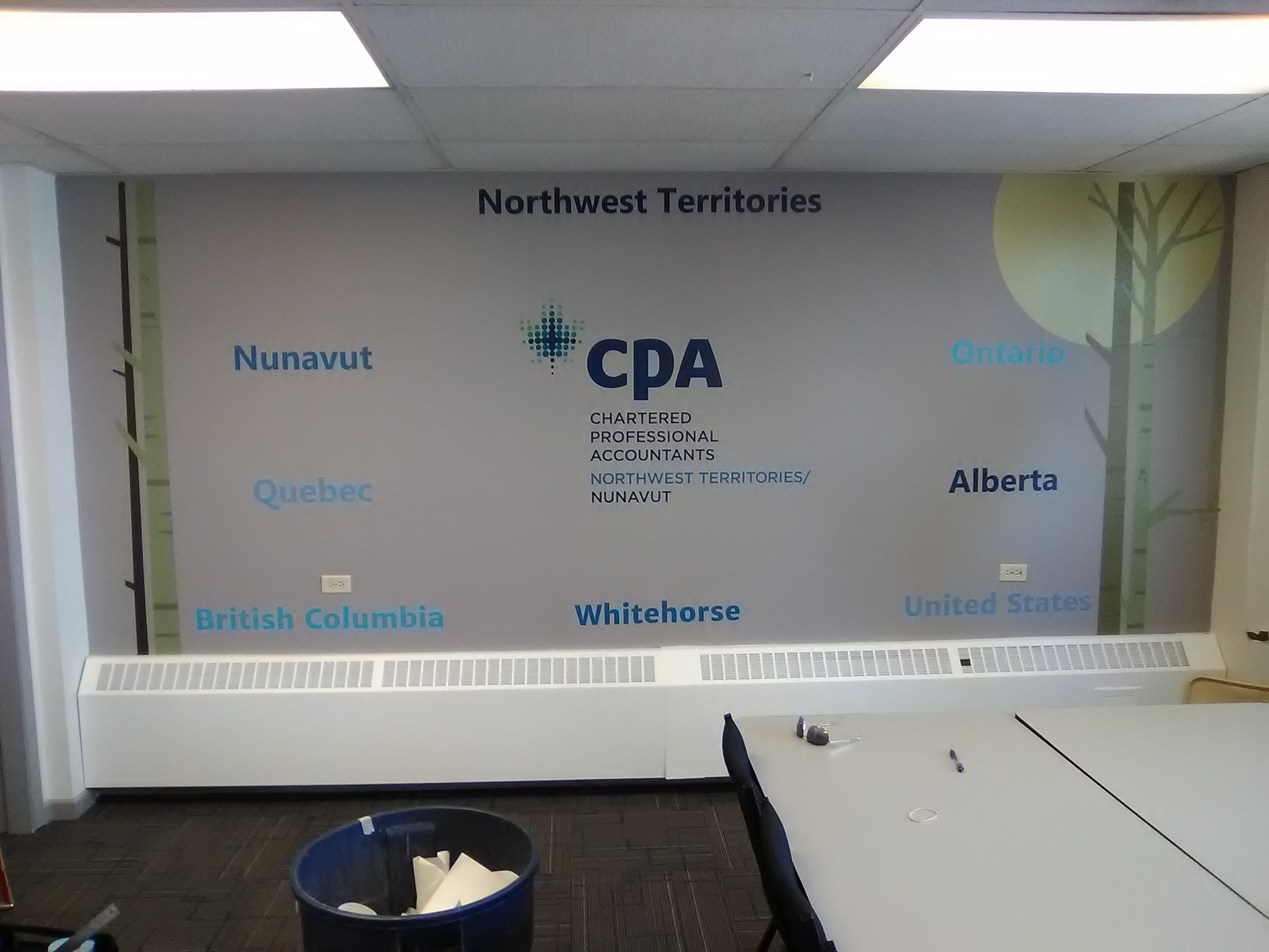 CPA Yellowknife Office Decals.