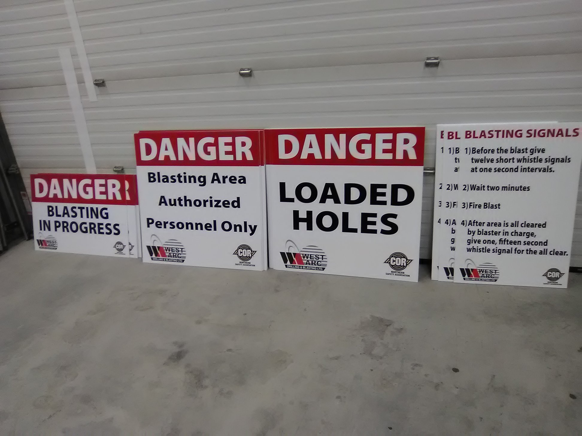Exterior Signage for work site,