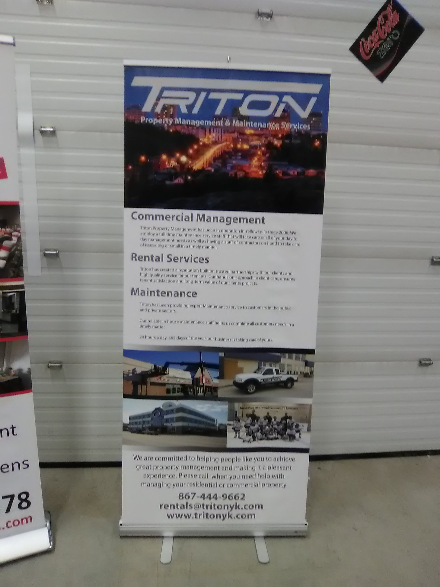 Corporate Signage for Triton Property Management & Maintenance Services