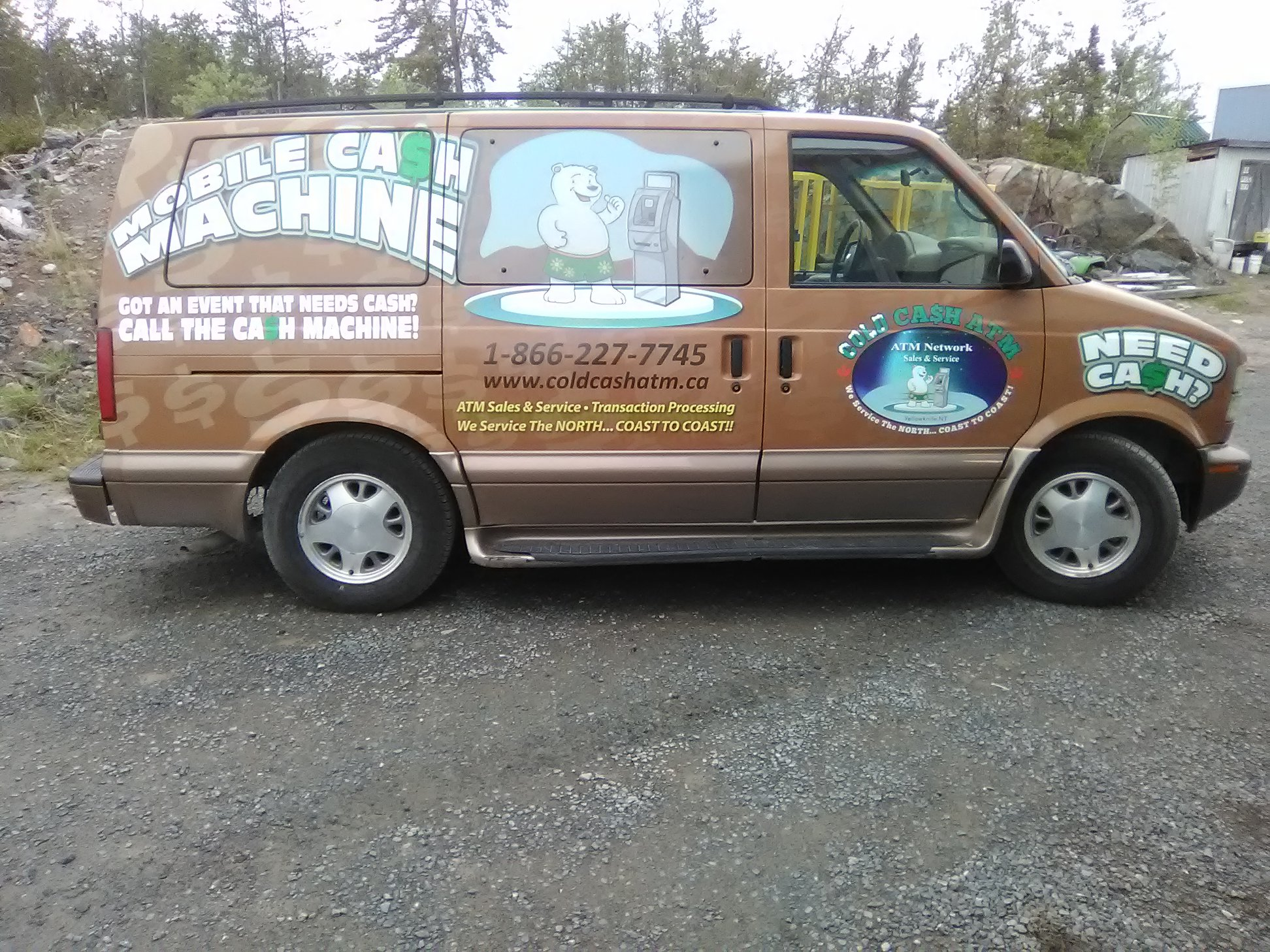 Vehicle Decal Wrap for Cold Cash ATM Van