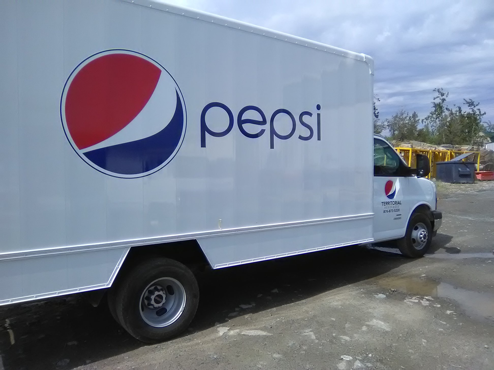 New decals for branded Pepsi delivery commercial fleet