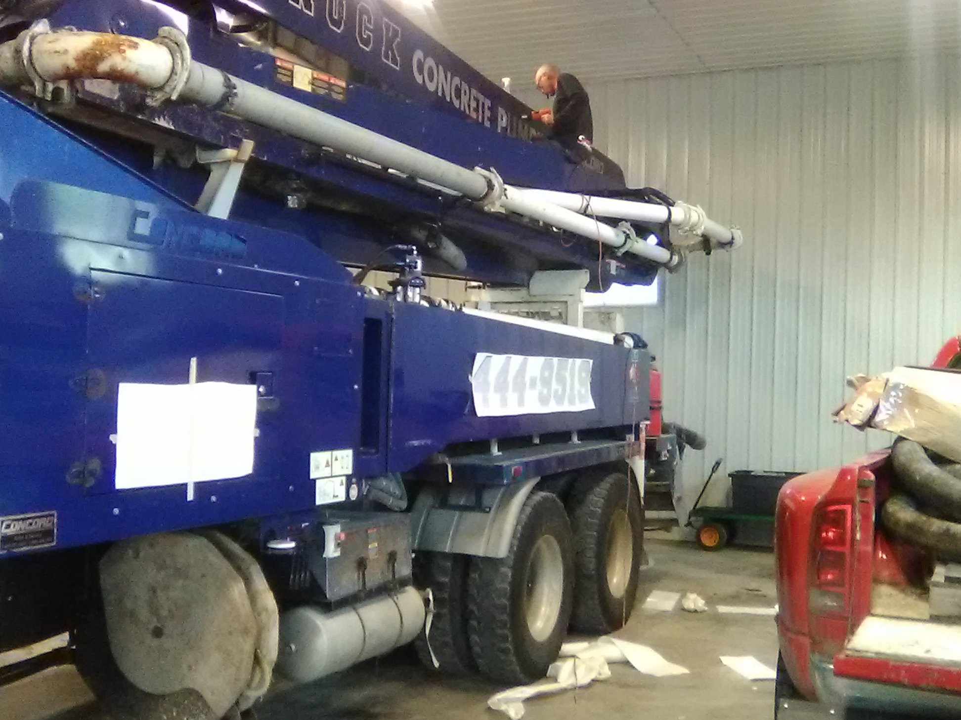 Vehicle Decals for Canuck Concrete Pumping