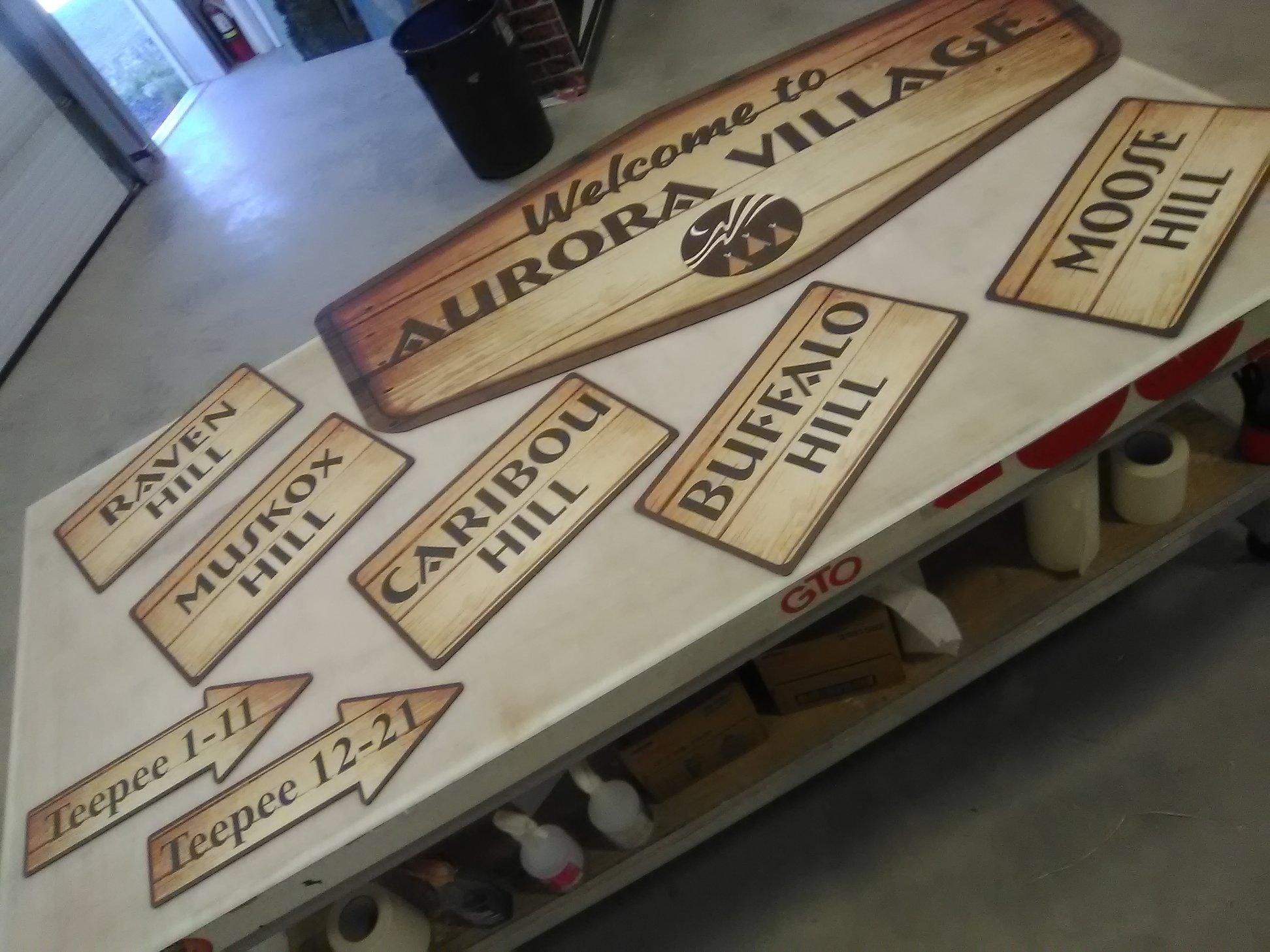 Aurora Village Guest Directional Signage