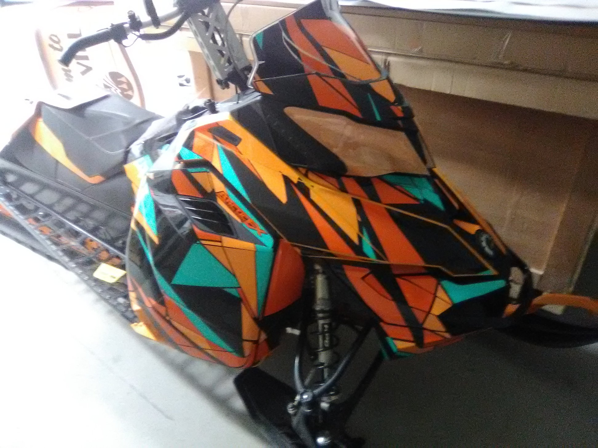 Custom Sled Wraps for ski-doo