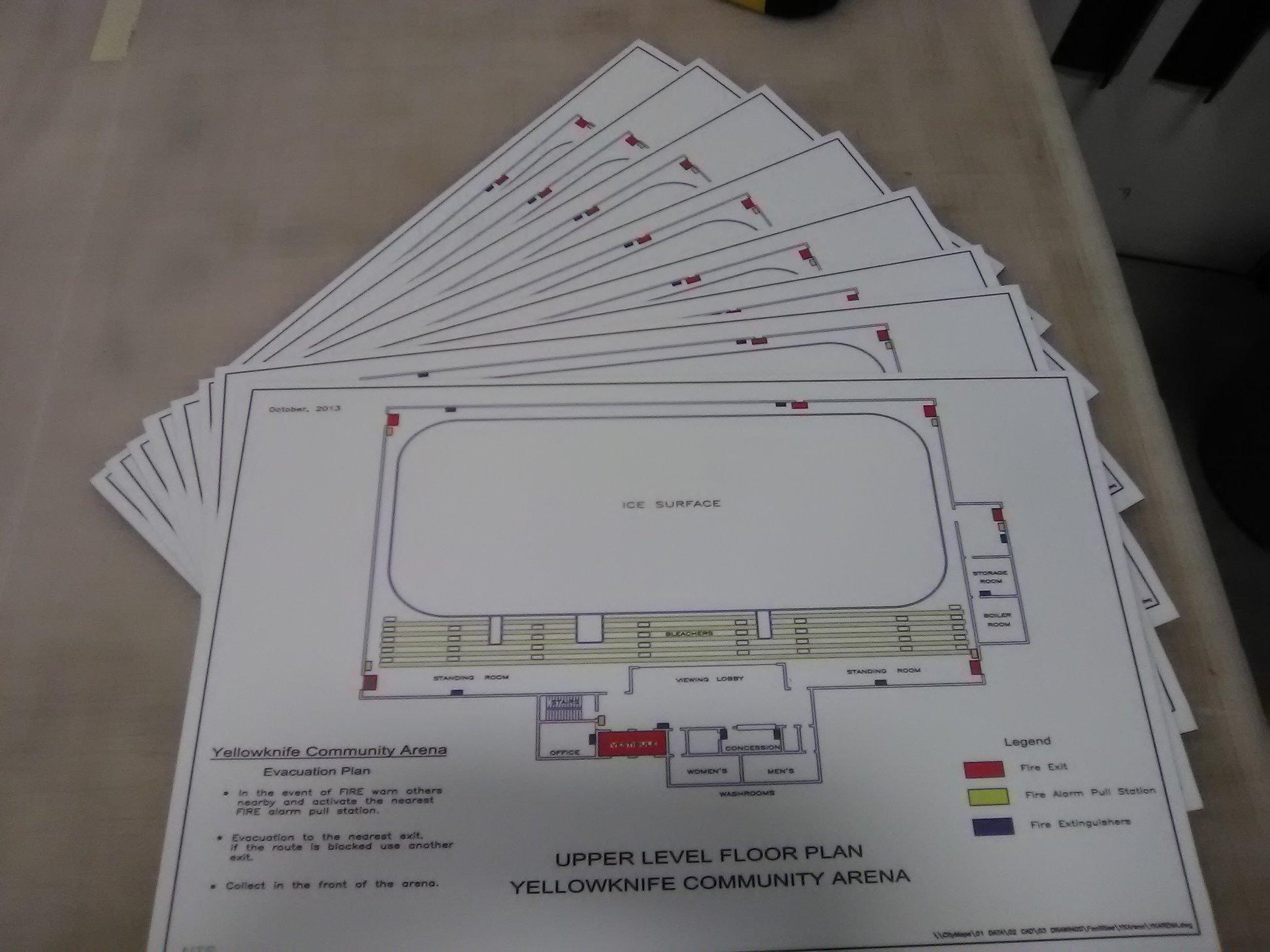 Arena Signage Evacuation Signage
