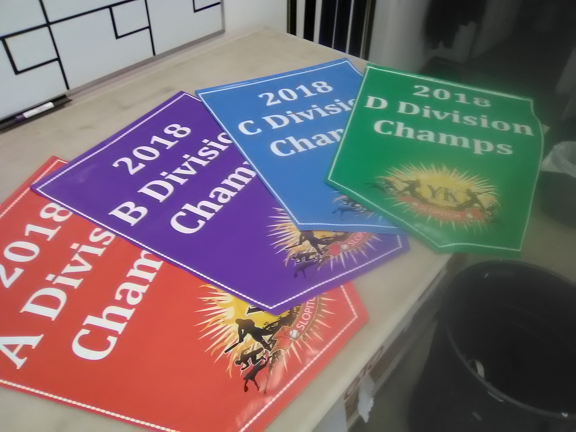 YK Slo Pitch Division Champ Signage
