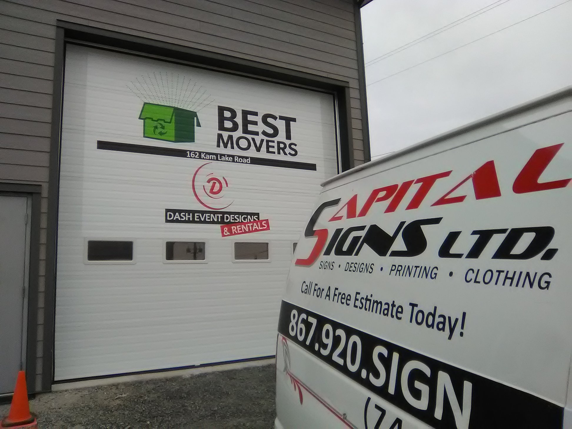 Dash Rentals & Best Movers Building Signage