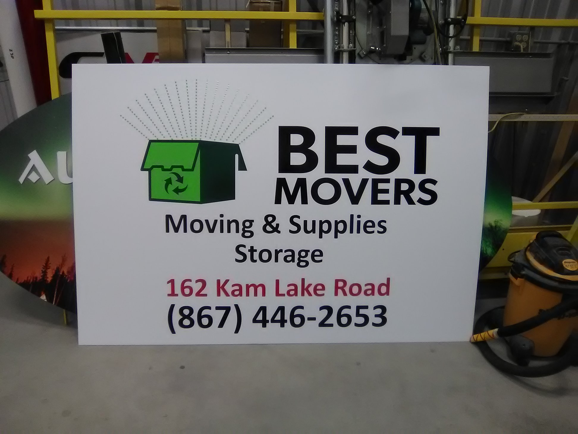 Best Movers Exterior Signage