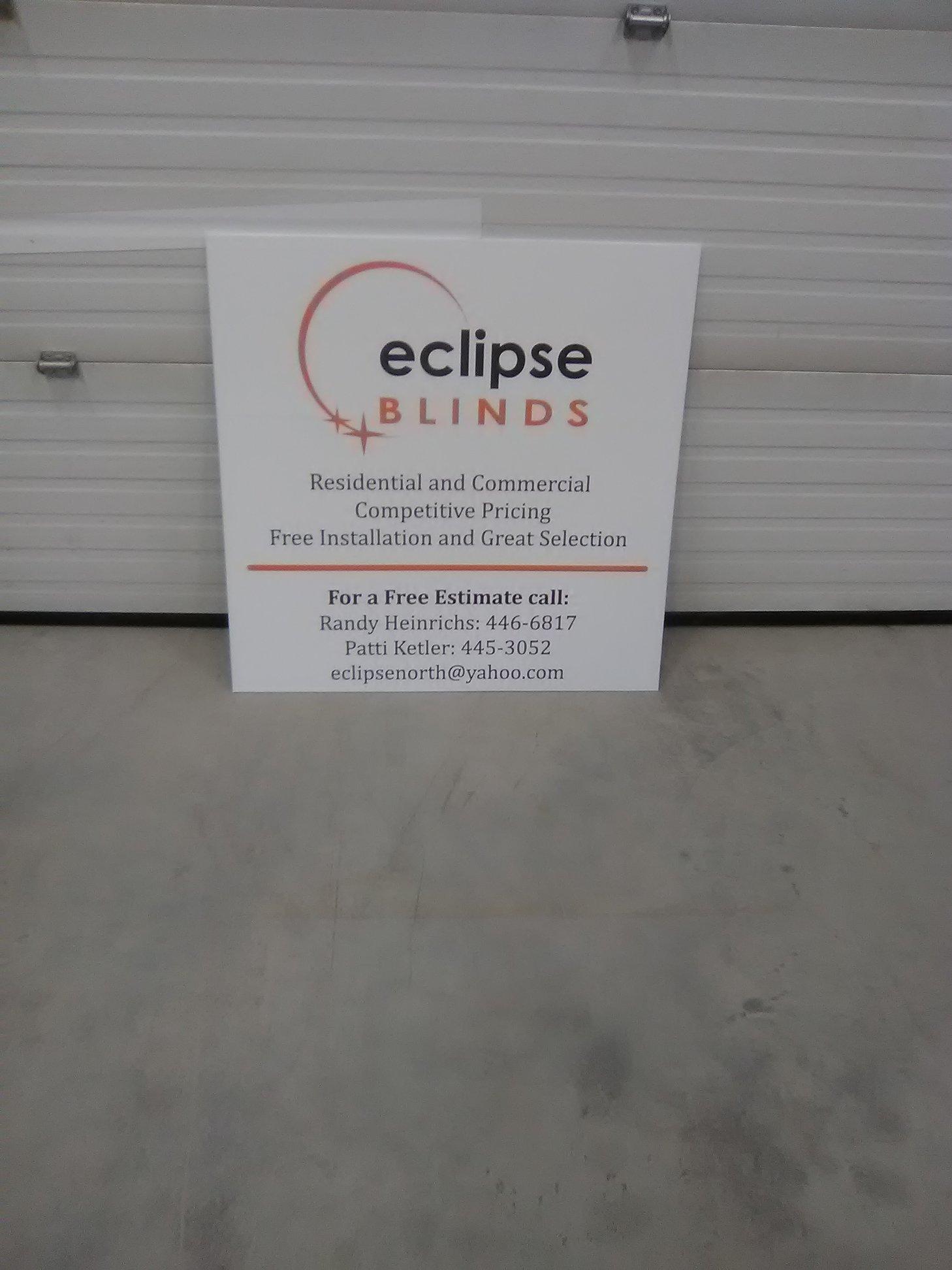 Eclipse Blinds Exterior Signage